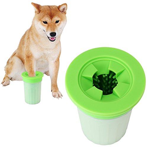 犬 足洗い ブラシカップ ペット足用クリーナー 清浄力3倍アップ 愛犬のお散歩帰りのかんたん足洗い (M-L) 中型/大型犬用