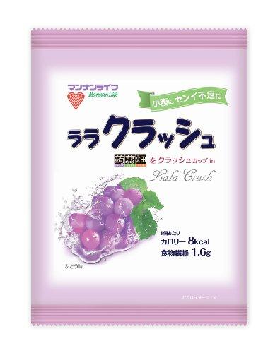マンナンライフ 蒟蒻畑 ララクラッシュぶどう味 (24g×10個)×12袋