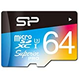 シリコンパワー microSDXCカード 64GB U3対応 4K動画 最大読込90MB/秒 最大書込80MB/秒 永久保証 SP064GBSTXDU3V20SP