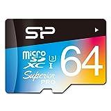 シリコンパワー microSD カード 64GB U3 4K動画 最大読込90MB/秒 最大書込80MB/秒 永久保証 SP064GBSTXDU3V20SP