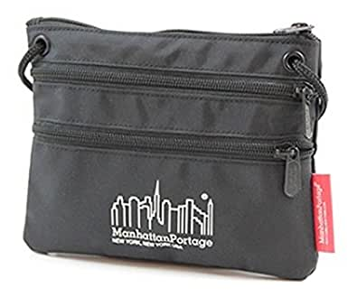 (マンハッタンポーテージ) Manhattan Portage Triple Zipper Pouch サコッシュ ショルダー (BK:Black)
