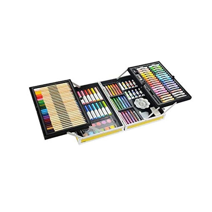 小学生なにフィールドJinfengtongxun ペイントブラシ、132二重層アルミニウム合金モデルの完全なブラシセット、ハイエンドギフトボックス二重層収納デザイン、さまざまなタイプのブラシコレクション(スタイル1 /スタイル2 /スタイル3,132) 絵画の様々な (Color : Style 2, Size : 132 colors)