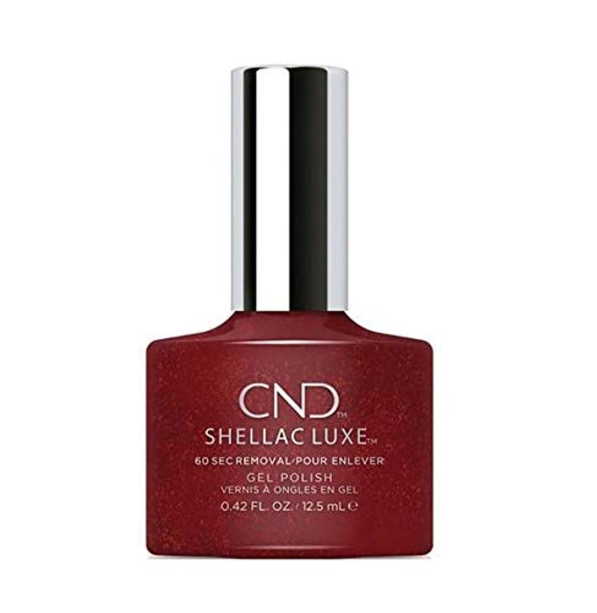 有彩色のぴかぴか勘違いするCND Shellac Luxe - Dark Lava - 12.5 ml / 0.42 oz