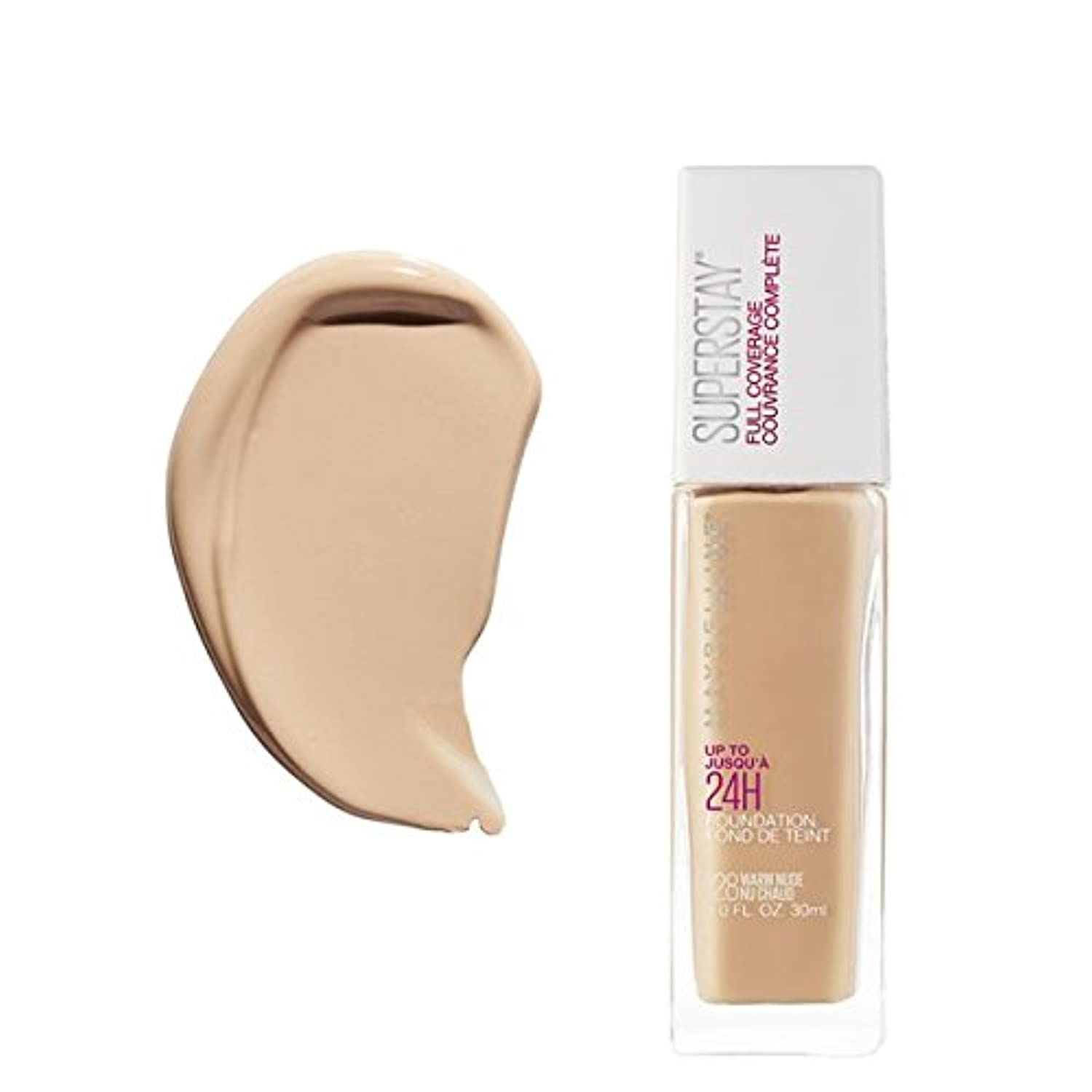 (6 Pack) MAYBELLINE Superstay Full Coverage Foundation - Warm Nude 128 (並行輸入品)