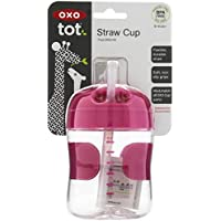 OXO Tot Straw Cup, Pink, 7 Ounce by OXO Tot [並行輸入品]