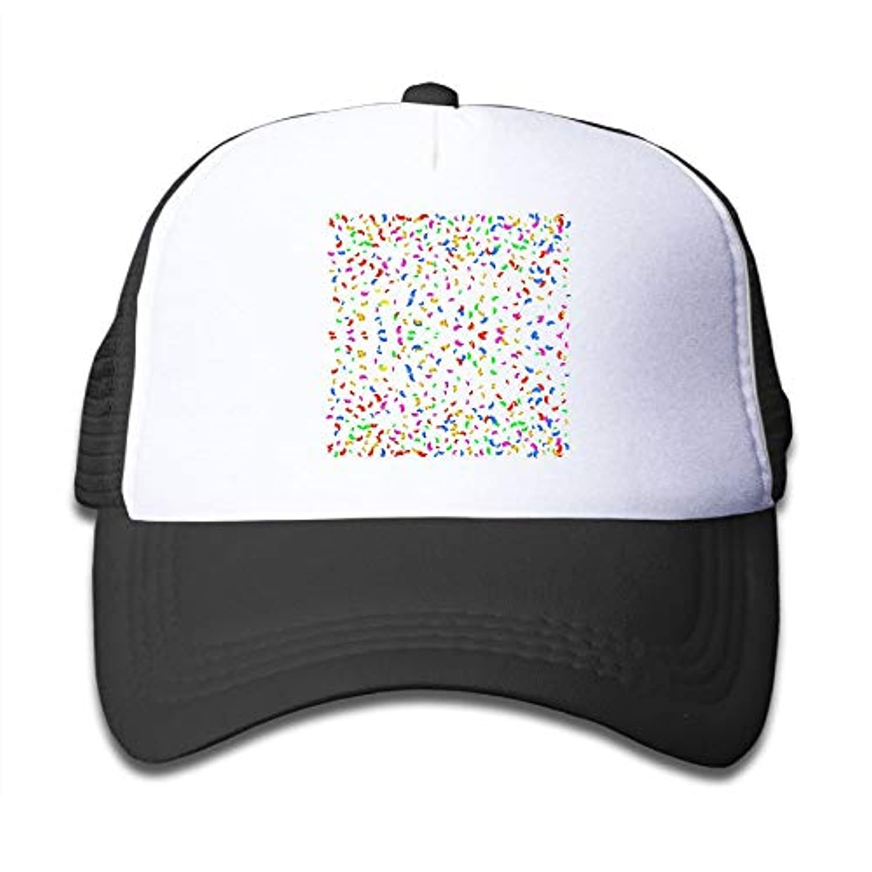五彩 箋 素敵 かわいい おもしろい ファッション 派手 メッシュキャップ 子ども ハット 耐久性 帽子 通学 スポーツ