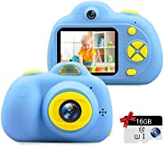 Kids Camera Gifts for 3-9 Year Old Girls,1080P HD Mini Rechargeable Children Shockproof Digital Front and Rear