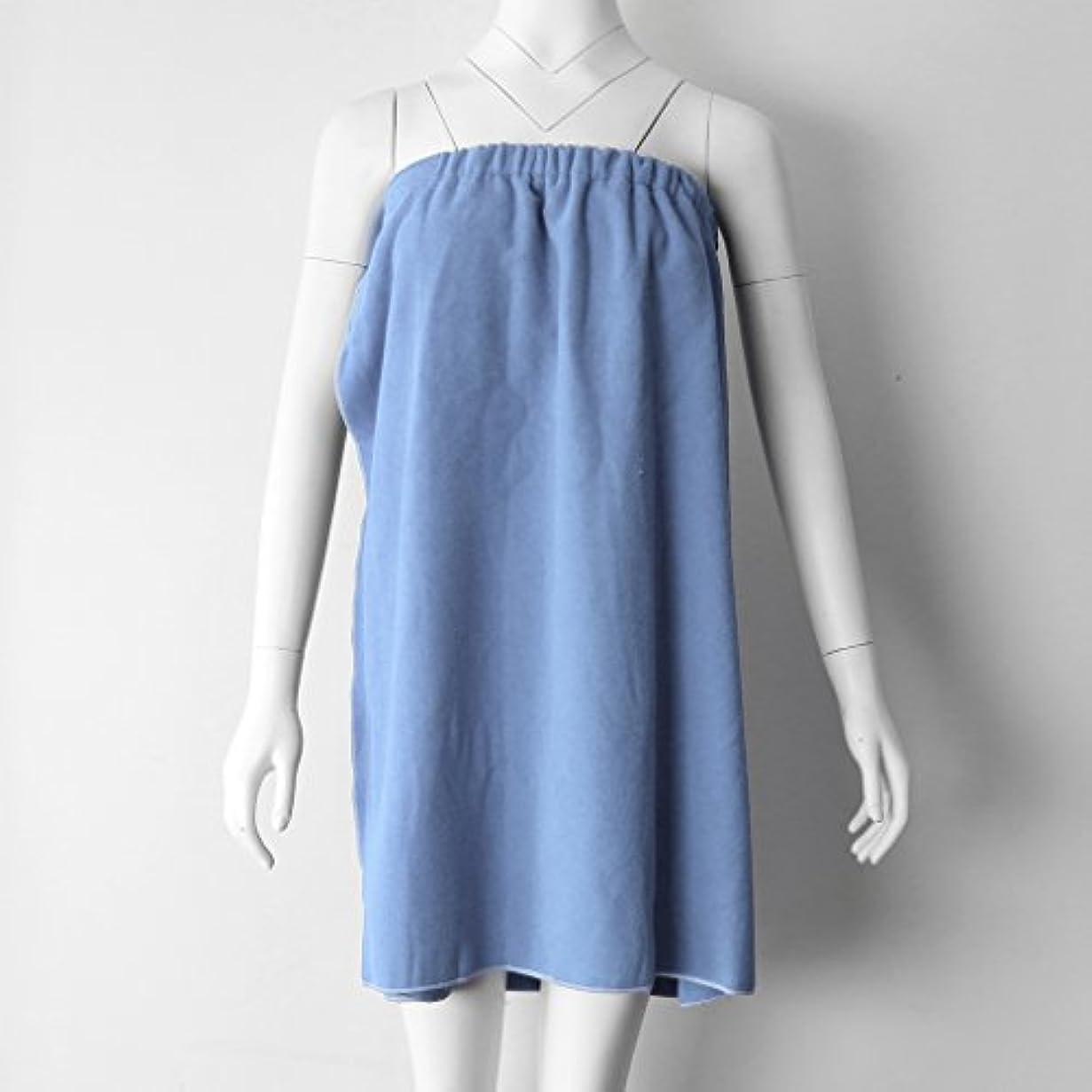 債務称賛抜本的なPerfk タオルラップ バスタオル バススカート レディース シャワーラップ 約68×54cm 4色選べる - ライトブルー