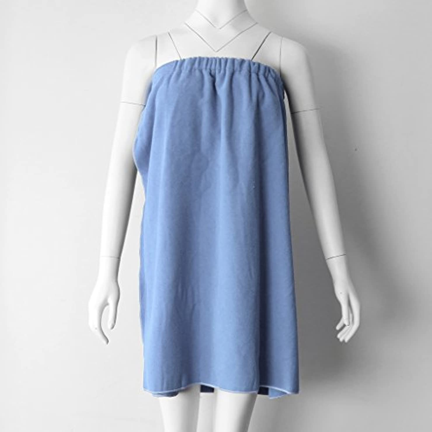 議題コピー移植タオルラップ バスタオル バススカート レディース シャワーラップ 約68×54cm 4色選べる - ライトブルー