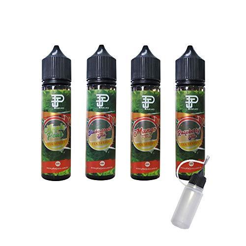 PhatJuice Tea シリーズ 60ml ファットジュース ティー 電子タバコ VAPE ベイプ リキッド 大容量 マレーシア産 輸入 アップルティー 梨 紅茶 リンゴ カシス 柑橘 マンゴー ラズベリー タール ニコチン0 pod型 に便利なニード