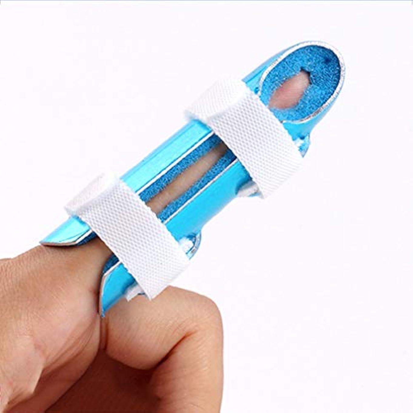 指の添え木は便利で通気性があり、医療用指の添え木アルミ合金固定添え木は掃除が簡単です - 3つのサイズを選択できます,L