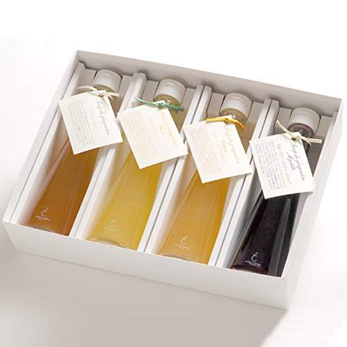 銀座のジンジャー 定番 4本セット(プレーン、柚子、レモン、ブルーベリー) まとめてお得 5箱[計4,000ml]ジンジャーシロップ・ギフトボックス