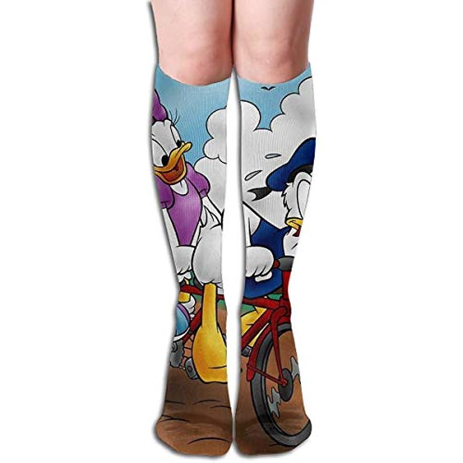 繁栄リレー扱うqrriyドナルドとデイジーチューブストッキングレディース冬暖かい膝ハイソックスブーツ靴下