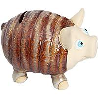 Vosarea ビンテージセラミック豚のお金の所有者創造的なかわいいコイン銀行の貯金箱クリエイティブギフト