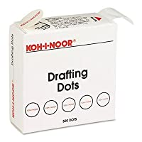 Adhesive Drafting Dots w/Dispenser 7/8in dia White 500/Box Sold as 1 Box 500 Each per Box [並行輸入品]