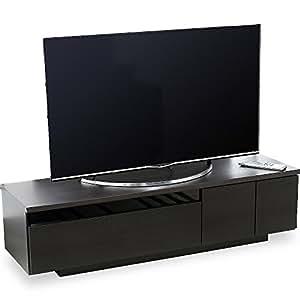 テレビ台 テレビボード ローボード ロータイプ ~50型まで 国産 完成品 140cm 木目 ダークブラウン