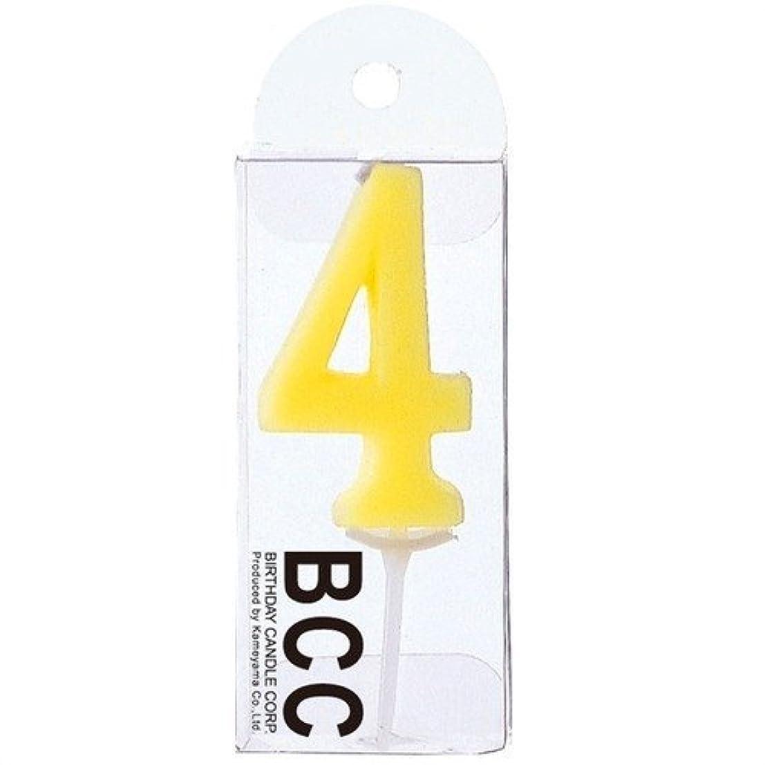 熱ロゴ劇的ナンバーキャンドルパステル4番 「 アイボリー 」 3個セット