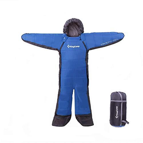 KingCamp 「寝袋 丸洗いOK」「人型寝袋 人型シュラフ 歩ける寝袋」「 アウトドア キャンプ 釣り 室内 防寒グッズ」最低使用温度-8℃