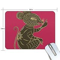 マウスパッド 切り紙 ねずみ ラバー 高級感 おしゃれ 滑り止め PC かっこいい かわいい プレゼント ラップトップ MacBook pro/DELL/HP/SAMSUNG などに プレゼント 疲労低減 光学式マウス対応 Jiemeil