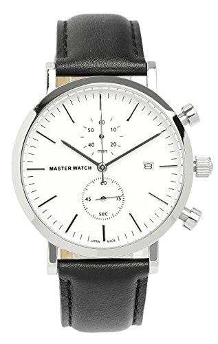 [マスターウォッチ] MASTER WATCH 日本製 腕時計 ウォッチ カレンダー クロノグラフ スモールセコンド 5気圧防水 メンズ