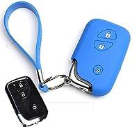 GOOACC レクサス LEXUS 適応ケース 自動車カーキーケース キーカバー 鍵保護 汚れ・傷防止 IS460 300 250 GX460 GS LS LX RX ES NX200 (ブルー, Aタイプ)