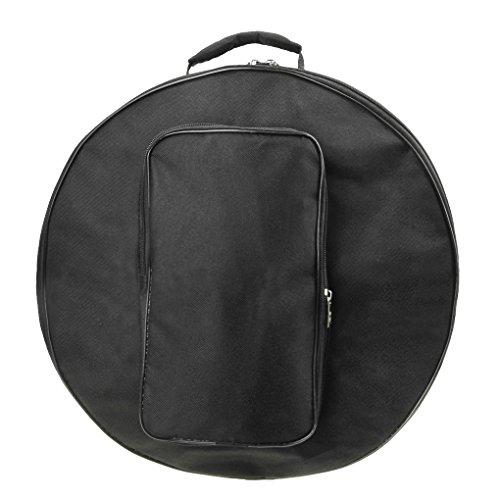 [해외]스네어 가방 드럼 가방 원통형 스네어 케이스 외부 포켓 600D 옥스포드 튼튼 발수 드럼 케이스 흠집이나 먼지로부터 보호 악기 가방 드럼 액세서리 휴대용 어깨 걸이 2way 여행 가방 직경 40 * 높이 16cm 블랙/Snare Bag Drum Bag Cylindrical Snare...