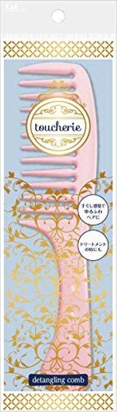 お香レザー中世のKQ2355toucherieハンドコームL粗目 × 60個セット