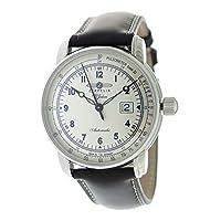 ツェッペリン ZEPPELIN 100周年記念モデル 自動巻き メンズ 腕時計 7654-4 シルバー/ダークブラウン[逆輸入品][wimp]