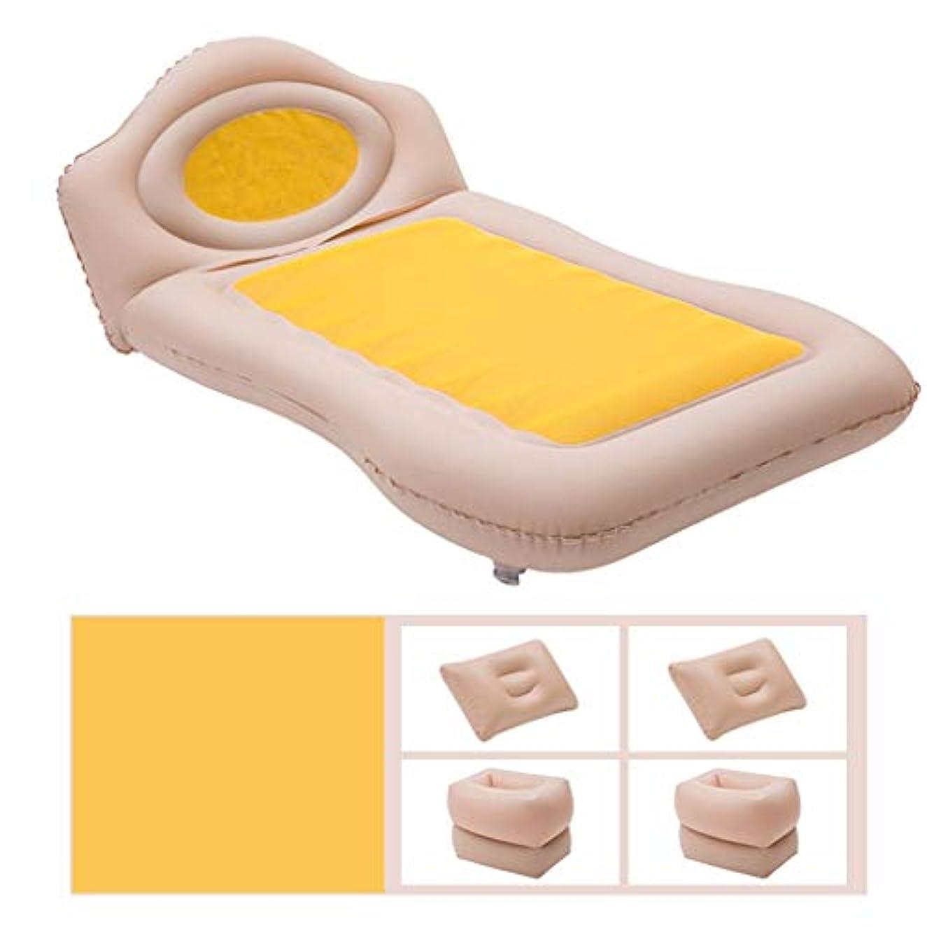 主人ダイヤモンド放映TXOZ 車の後部座席延長マットレス車の膨脹可能なベッド車の睡眠のマットレス車のエアベッド カーエアーベッド (Color : Yellow)