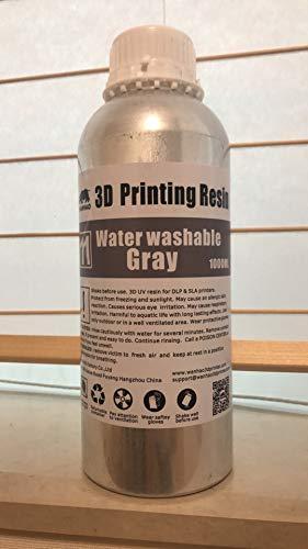 3Dプリンター用 水洗いレジン 1000ml アルコール不要 (灰色)