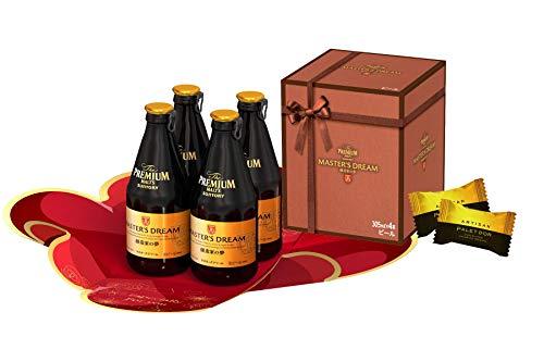 サントリー ザ・プレミアム・モルツ マスターズドリーム 305ml×4瓶セット バレンタインチョコレート付 ×4本