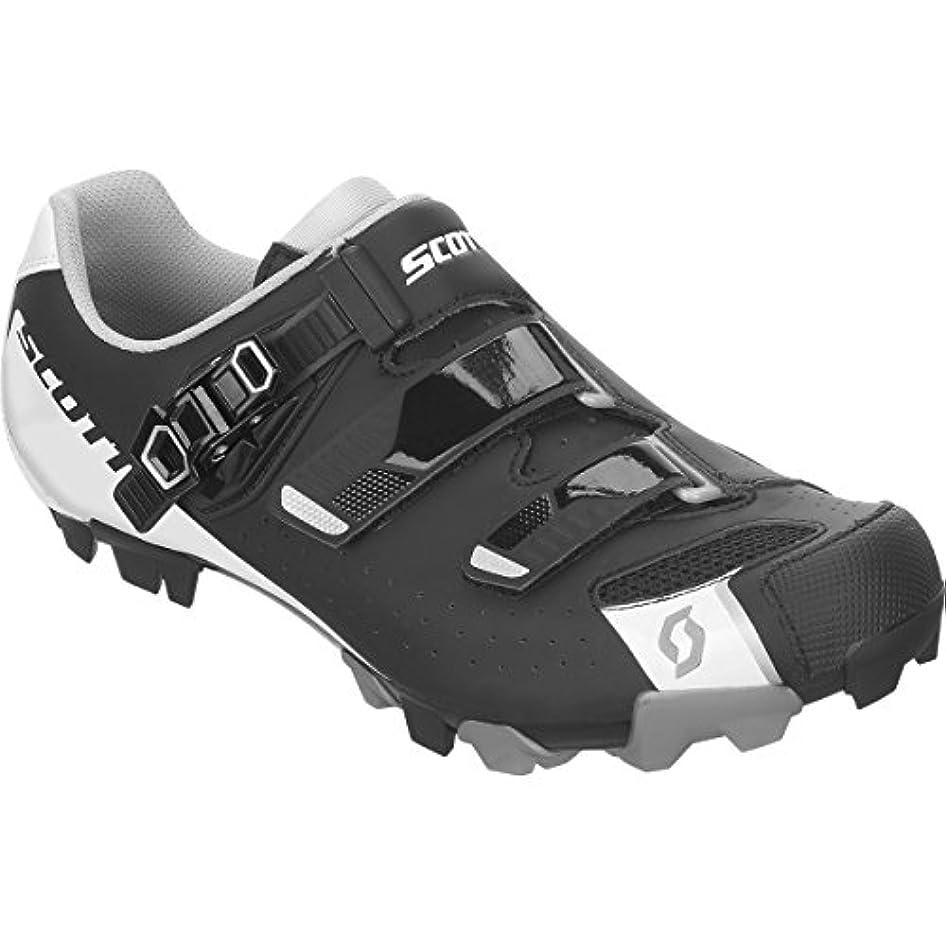 信条素晴らしい流スコット?MTB Pro Shoe – Men 'sマットブラック/グロスホワイト、48.0