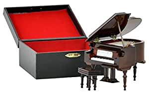 SUNRISE SOUND HOUSE サンライズサウンドハウス ミニチュア楽器 グランドピアノ 9cm 茶