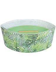Palm Leaf – デカール楕円HearthWick Flame Scented Candle by WoodWick