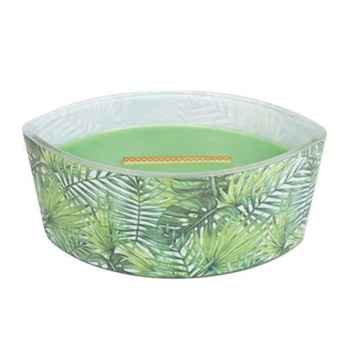 コテージバッフル直面するPalm Leaf – デカール楕円HearthWick Flame Scented Candle by WoodWick