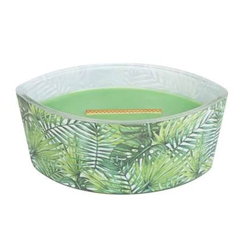 削除する暫定の目に見えるPalm Leaf – デカール楕円HearthWick Flame Scented Candle by WoodWick