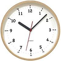 KATOMOKU plywood wall clock 10 スイープ(連続秒針) km-76N φ252mm