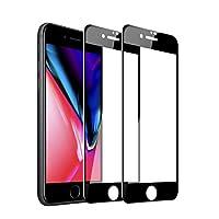 【2枚セット】Sheevol iPhone7 plus強化ガラス iphone8 plus ガラスフイルム 【日本製素材旭硝子製】 6Dラウンドエッジ加工/業界最高硬度9H/高透過率/3D Touch対応/自動吸着/気泡ゼロ アイフォン7プラス ガラスフィルム アイフォン8プラス 強化ガラス液晶保護フィル 全面フルカバー 5.5インチ対応 ブラック(黒)