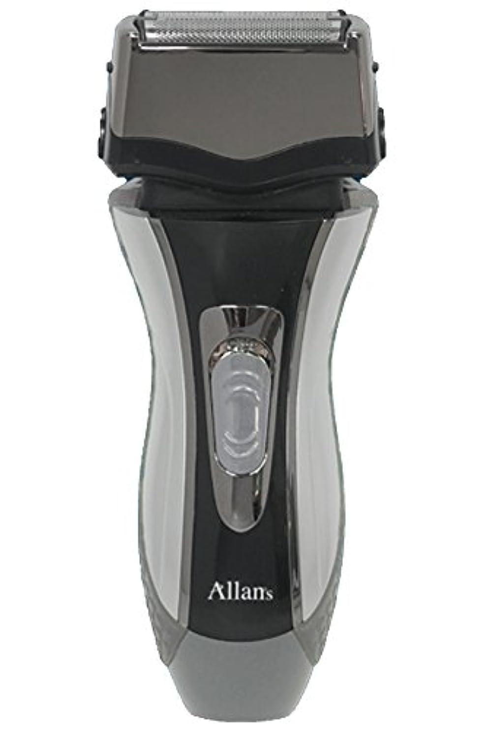 先のことを考える教義頼るAllans 往復式 3枚刃 洗える 充電 電動 髭剃り ウォッシャブル シェーバー トリプルブレード MEBM-7