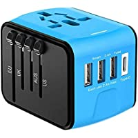 Full-Featured International Travel Adapter/Charger,USB Type Plug,Applicable to Mobile Phones, Tablet Computers, Digital Cameras, MP3, Laptops and All Other Equipment