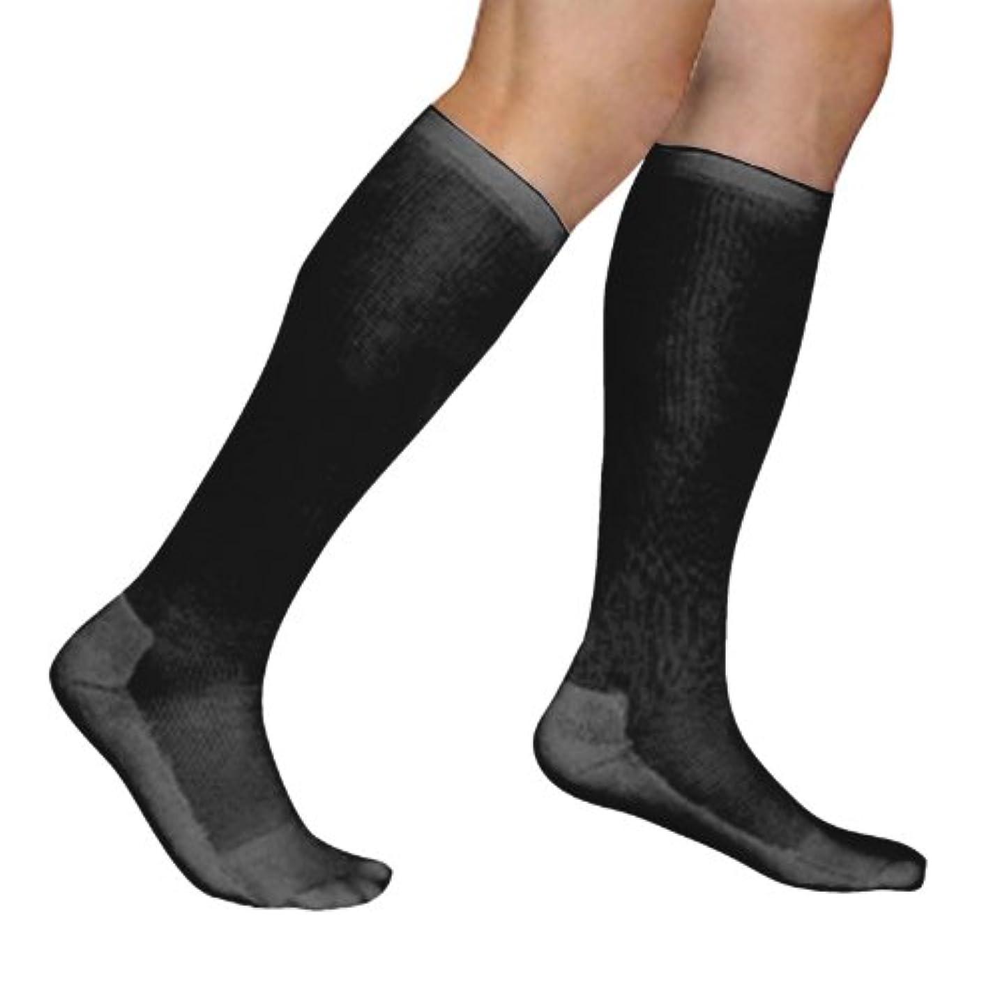 教シンクエピソードSigvaris Mens Cushioned Cotton Support Therapy Socks 15-20mmHg : Size A Black by Sigvaris