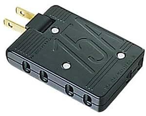 【2003年モデル】ELECOM 電源タップ 片面+下方向 3個口 ブラック T-TR4BK