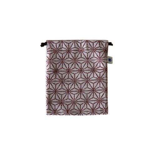 米織小紋・巾着袋(中) (麻の葉)