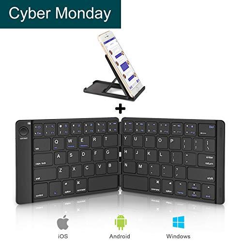 ワイヤレスキーボード,Sounwill 折りたたみ式 Blu...