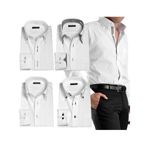 VOL' ZIONE 長袖ワイシャツ【5枚組セット】ドゥエボットーニ:Rセット(NI-5SET07NI5N-R)LL(メンズ ビジネス Yシャツ ホワイト 白 イージーケア 簡単アイロン ドゥエボットーニ ボタンダウンドレスシャツ)