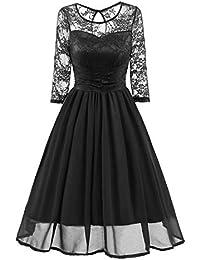 c55d422afc417 Amazon.co.jp  ブラック - ワンピース・チュニック   ワンピース・ドレス ...