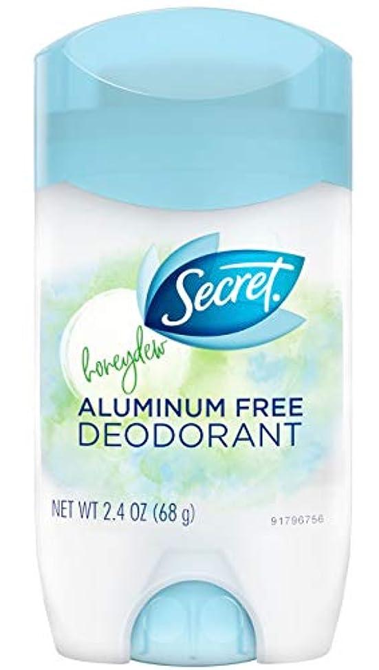フィード養うオーガニックシークレット Secret ハニーデュー デオドラント アルミニウムフリー 女性用 固形 制汗剤 ケミカルフリー ボディケア 68g