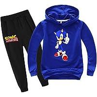 SUPFANS Kids Sonic The Hedgehog Hoodie Shirt and Sweatpants Sweatshirt and Pants Set