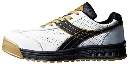 ドンケル/ディアドラ DIADORA 安全作業靴 ピーコック 白/黒 25.0cm(3881644)...