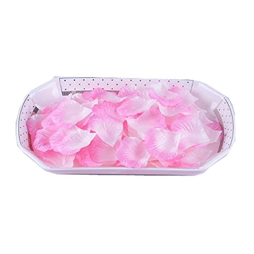 和らげる計算するバッグ人工花びらの偽の花びら3000結婚式のセット